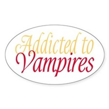 Addicted to Vampires Twilight Fan Oval Decal