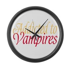 Addicted to Vampires Twilight Fan Large Wall Clock