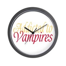 Addicted to Vampires Twilight Fan Wall Clock