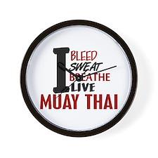 Bleed Sweat Breathe Muay Thai Wall Clock