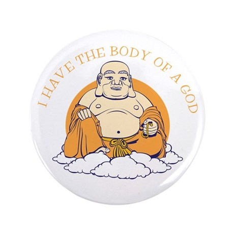 """Body of a God 3.5"""" Button (100 pack)"""