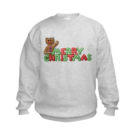Merry Christmas Gingerbread M Kids Sweatshirt