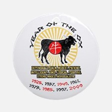 Year of Ox Qualities Ornament (Round)