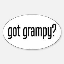 got grampy? Oval Decal