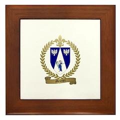 MEUNIER Family Crest Framed Tile