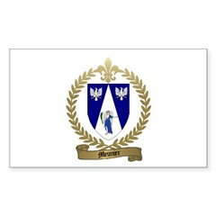 MEUNIER Family Crest Rectangle Decal