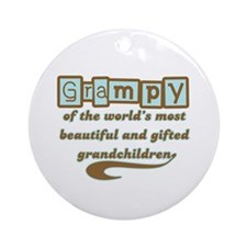 Grampy of Gifted Grandchildren Ornament (Round)