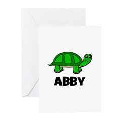 Abby - Customized Turtle Desi Greeting Cards (Pk o
