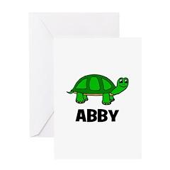 Abby - Customized Turtle Desi Greeting Card