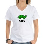 Abby - Customized Turtle Desi Women's V-Neck T-Shi