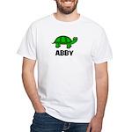 Abby - Customized Turtle Desi White T-Shirt