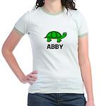 Abby - Customized Turtle Desi Jr. Ringer T-Shirt
