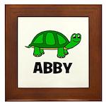 Abby - Customized Turtle Desi Framed Tile