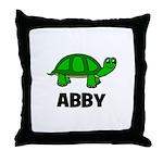 Abby - Customized Turtle Desi Throw Pillow