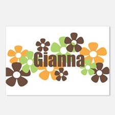 Gianna - fall flowers Postcards (Package of 8)