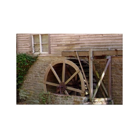 Water mill. Rectangle Magnet