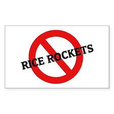 Anti Rice Rockets Rectangle Decal