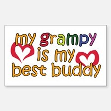 My Grampy is My Best Buddy Rectangle Decal