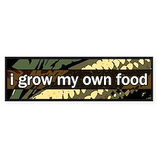 grow local Bumper Car Sticker