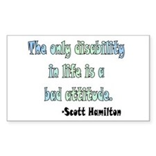 Scott Hamilton quote Rectangle Decal