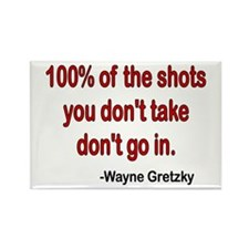 Wayne Gretzky quote Rectangle Magnet