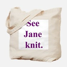 Jane Knits Tote Bag