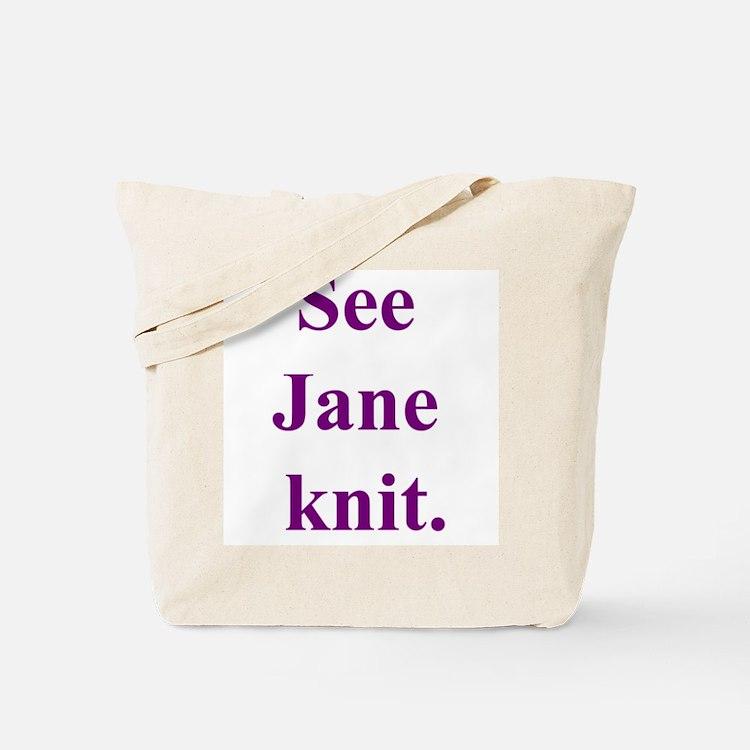 Jane Knits Tote Bag