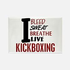 Bleed Sweat Breathe Kickboxing Rectangle Magnet