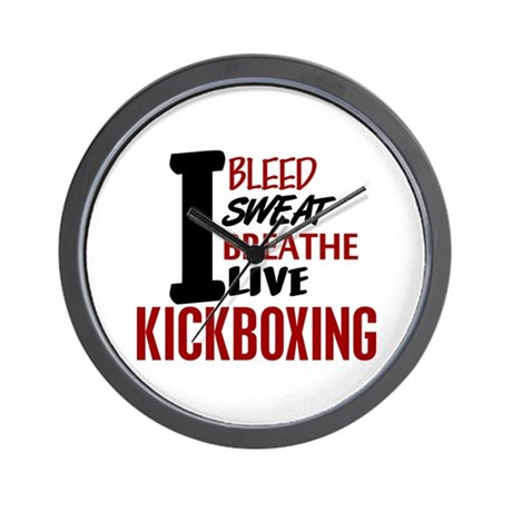 Bleed Sweat Breathe Kickboxing Wall Clock