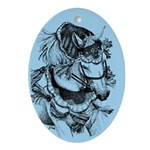 Arabian Horse Oval Ornament