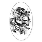 Arabian Horse Oval Sticker