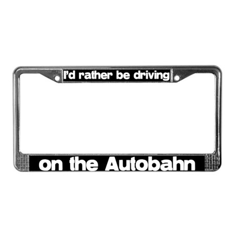 Autobahn License Plate Frame