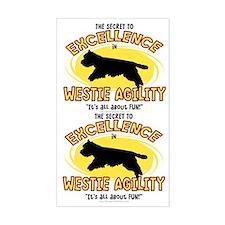 The Secret to Westie Agility Sticker (2 in 1)
