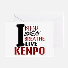 Bleed Sweat Breathe Kenpo Greeting Card