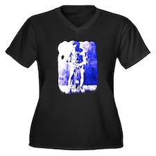 Unique Houdini Women's Plus Size V-Neck Dark T-Shirt