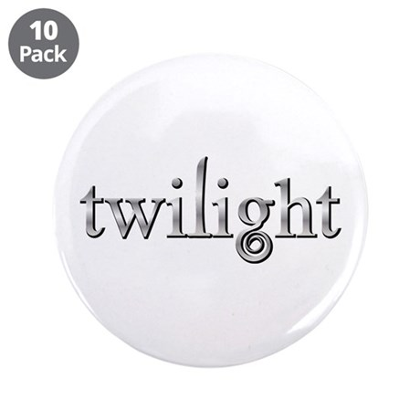 "Twilight Silver Movie Book Fan 3.5"" Button (10 pac"