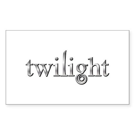 Twilight Silver Movie Book Fan Rectangle Sticker