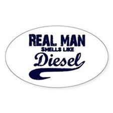 Real man Oval Decal