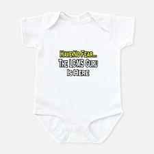 """""""No Fear, LC-MS Guru is Here"""" Infant Bodysuit"""