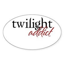 Twilight Addict Oval Decal
