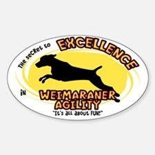 The Secret to Weimaraner Agility Oval Decal