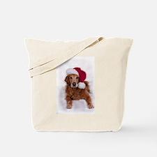 Chirstmas Golden Retreiver Tote Bag