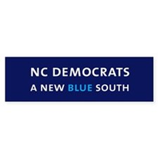 NC Democrats Bumper Sticker- Navy Blue