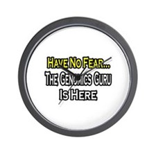 """No Fear...Genomics Guru"" Wall Clock"