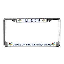 Illinois O.E.S. License Plate Frame