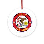 Illinois O.E.S. Ornament (Round)