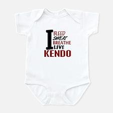 Bleed Sweat Breathe Kendo Infant Bodysuit