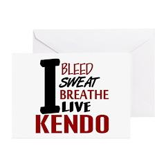 Bleed Sweat Breathe Kendo Greeting Cards (Pk of 20