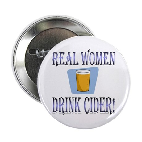 Real Women Drink Cider Button