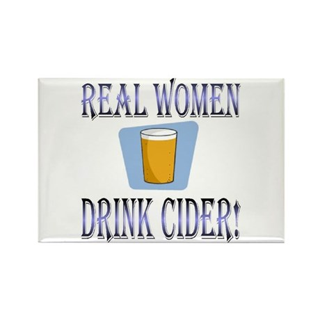 Real Women Drink Cider Rectangle Magnet